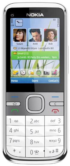 Nokia Handy C5 5MP mit Sprachausgabe und ScreenReader