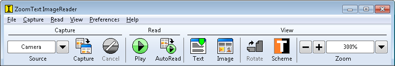 ZoomText ImageReader Toolbar