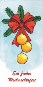 taktile Glückwunschkarte: Weihnachtskugeln