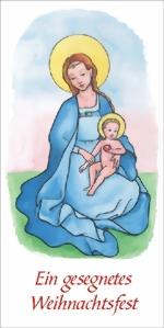 taktile Glückwunschkarte: Madonna mit Kind