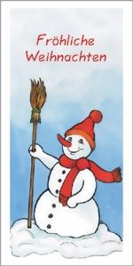 taktile Glückwunschkarte: Schneemann