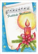taktile Glückwunschkarte: Kerze