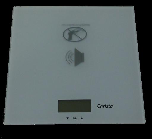 CHRISTA: Digitale Personenwaage mit Ansage, Sprachausgabe, Lautstärkeregelung