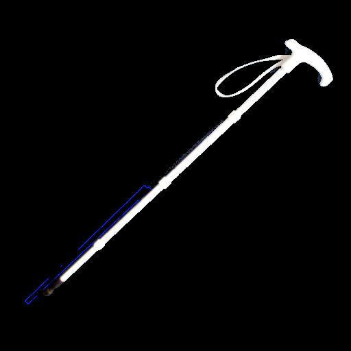 Stützstock, Kombistock 4-teilig Aluminium mit Kunststoffgriff