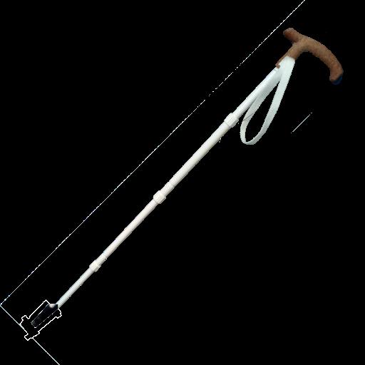 Stützstock, Kombistock 4-teilig Aluminium mit Korkgriff