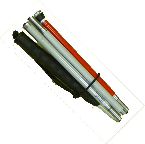 Langstock, Faltstock 6-teilig Aluminium