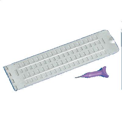 Brailletafel, Schreibrahmen 4x18 Zeichen, Alu, mit Griffel