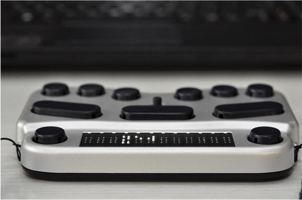 BraillePen 12 Touch - die Bluetooth-Brailletastatur und 12er Braillezeile/ Cursorrouting