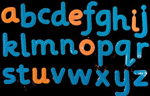 taktile Buchstaben, zum Erlernen der Formen und Spielen