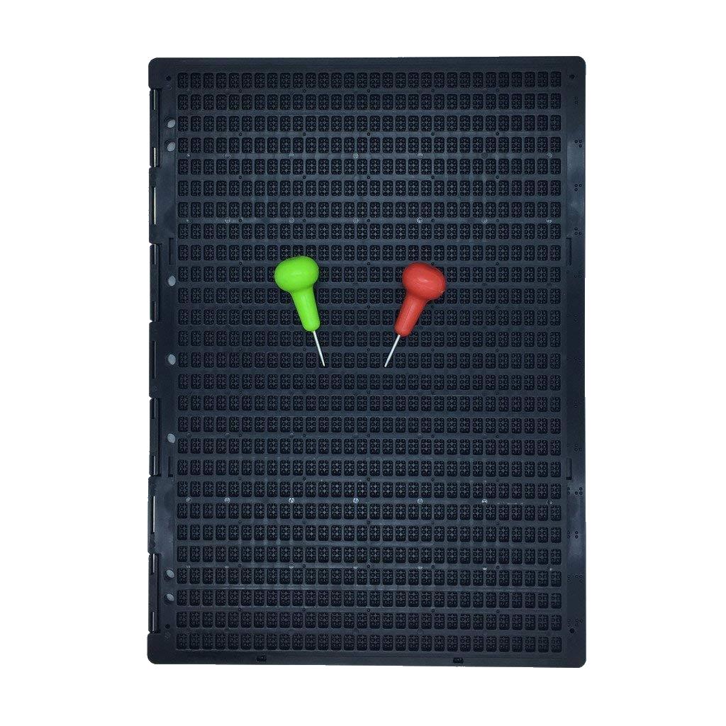 Brailletafel, Schreibrahmen 27x30 Zeichen, Kunststoff, mit 1 Griffel