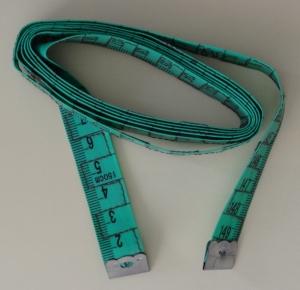 Maßband, 150cm mit taktilen Markierungen