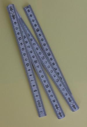 Gliedermaßstab, 100cm mit taktilen Markierungen