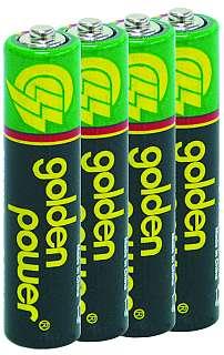 Micro-Batterie Zink/Kohle 1,5V, Typ AAA, 4er-Pack