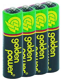 Mignon-Batterie Zink/Kohle 1,5V, Typ AA, 4er-Pack
