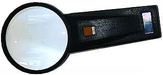 Lupe mit Beleuchtung 50mm Linse, 5-fache Vergrößerung