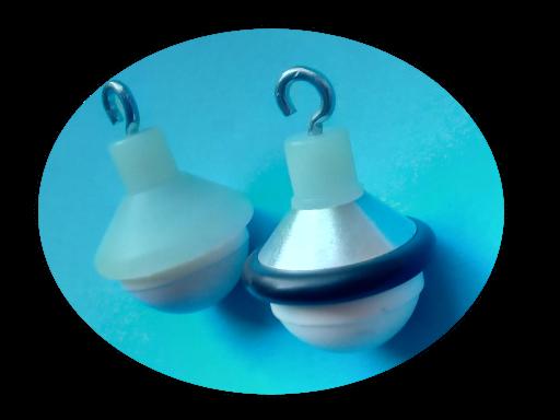 Endstück: Festspitze, zum Einhängen, kleine Halbkugel, Keramik, 24mm