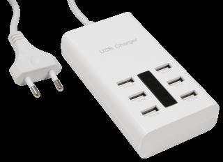 USB-Stecker-Netz-& Ladegerät Grundig, 6 x 5V, 7,2A