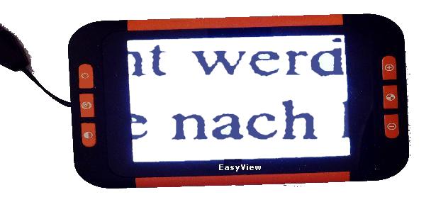 EasyView MINI - die kleine elektronische Lupe