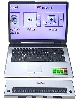 Braillezeile InfoDot 40 multi - die Vvielseitige mit USB und Bluetooth