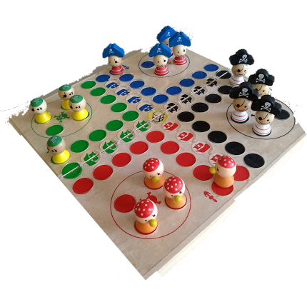 Taktiles Rausschmeisser für Blinde, Piraten, klein für bis zu 4 Spieler