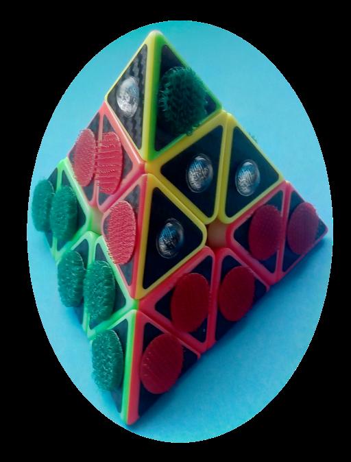 Magic Pyramide für Blinde (taktile Symbole)