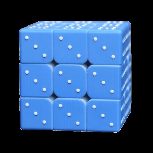 taktiler Zauberwürfel, Magic Cube für Blinde 3x3