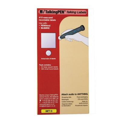 PenFriend -Etiketten - Pack C, D, E, F, G und H