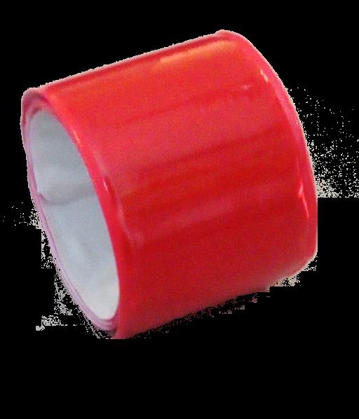Reflektionsband, selbsthaltend, rot, Kunststoff, 38cm x 3cm