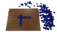 Taktiles Scrabble für Blinde