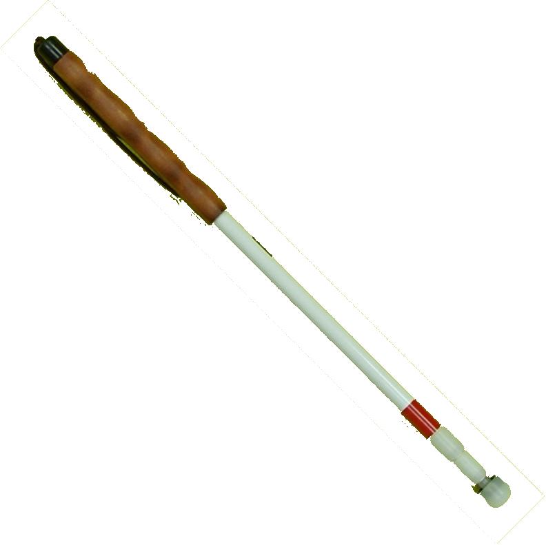 Langstock Teleskopstock 3-teilig, Aluminium, Buchenholz, Leder o. Neoprengriff