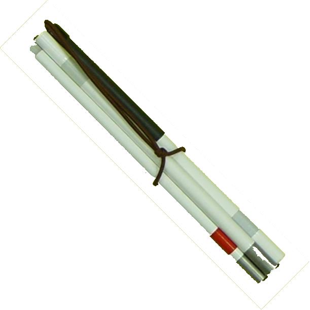 Signal- Taststock 4-teilig, Faltstock, Aluminium