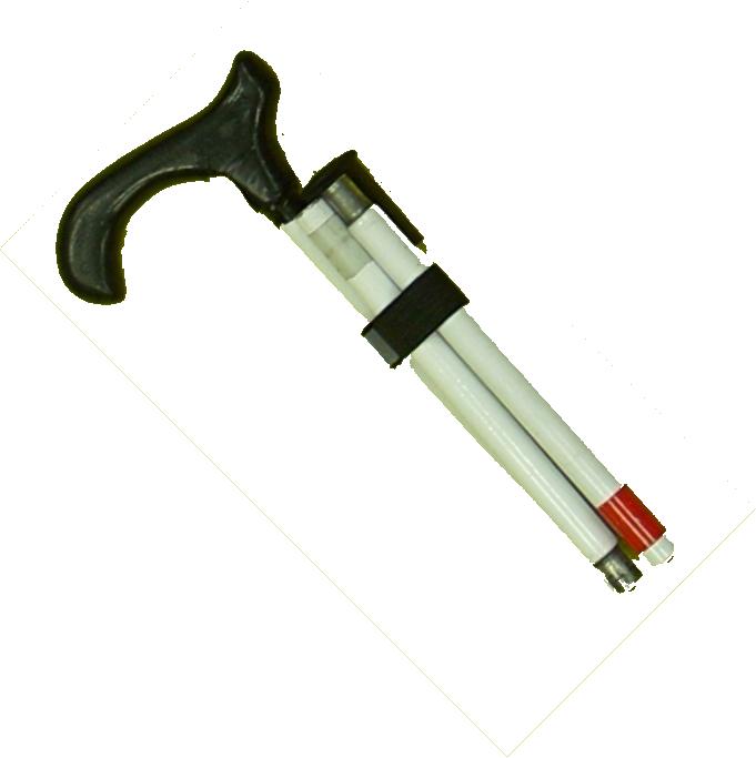 Stützstock, Faltstock 4-teilig, Aluminium