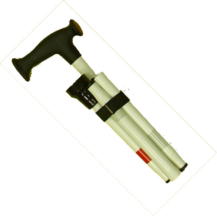 Stützstock, Kombistock 5-teilig Aluminium