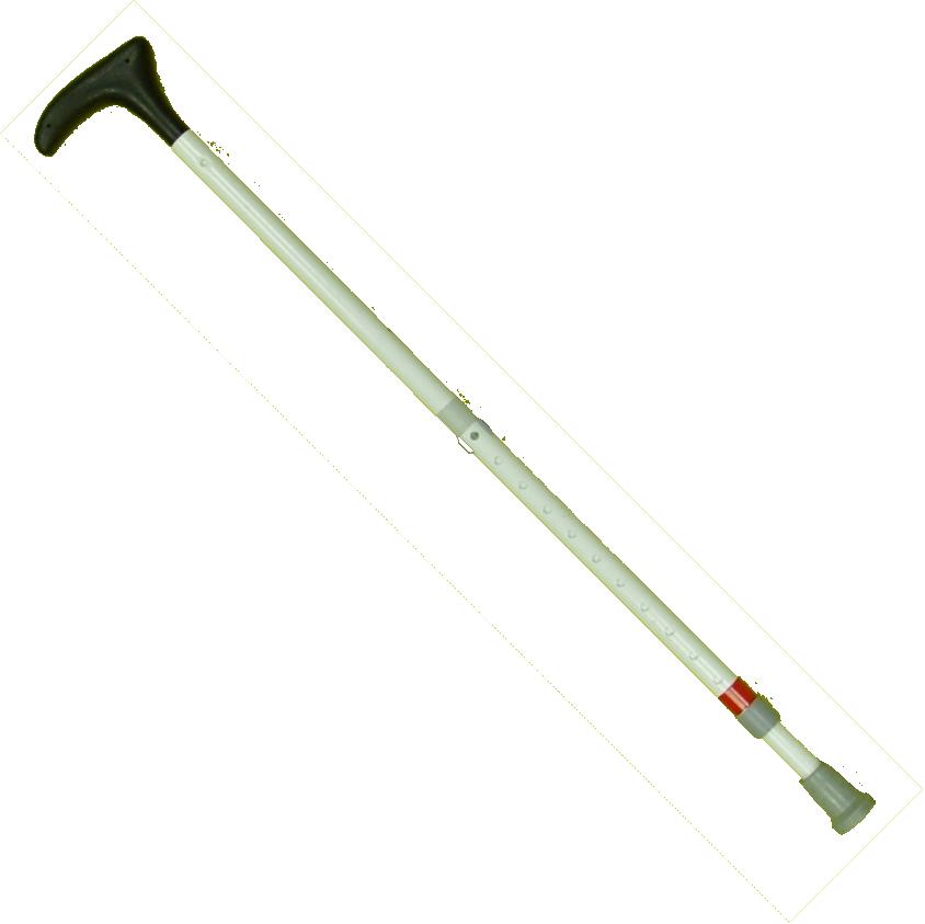 Stützstock, Teleskopstock 2-teilig, Aluminium, Kunststoff-/Plastikgriff