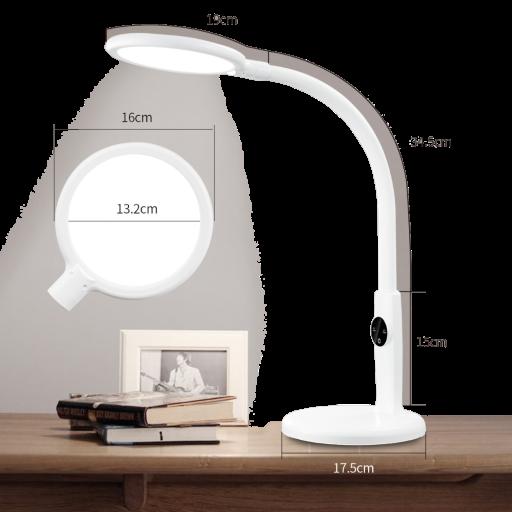 LED Schreibtischlampe mit fexiblen Schwanenhals, rund, hell
