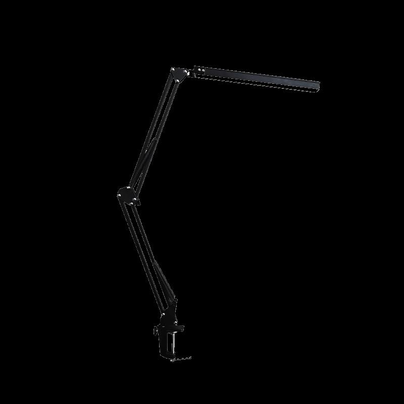 LED Schreibtischlampe mit langem, fexiblen Arm, schwarz
