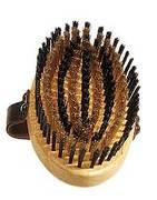 Messing Kardätsche Buchenholz, lackiert, reinigt das Fell