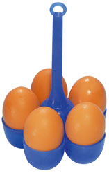 Silikon Eierhalter zum Kochen von 5 Eiern im Kochtopf