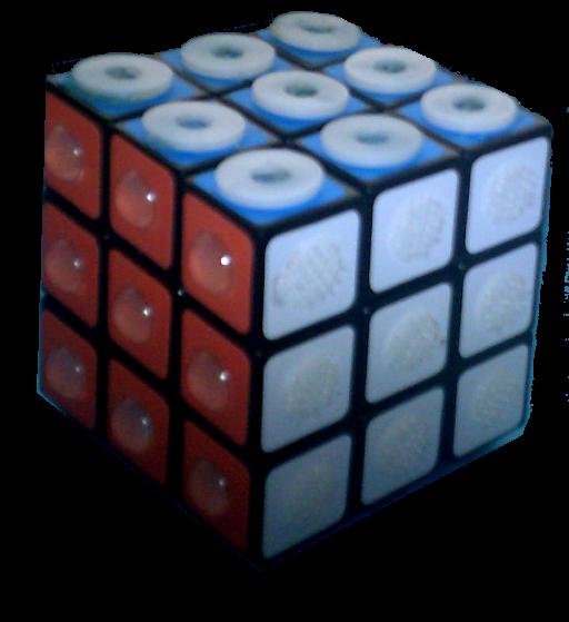 Zauberwürfel, Rubic Cube für Blinde (taktile Symbole)