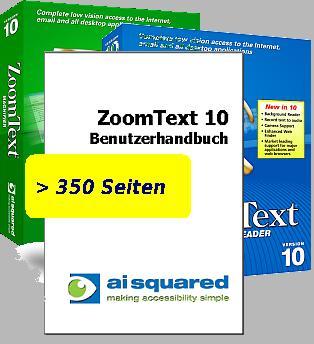 ZoomText 11 Handbuch in gedruckter Form